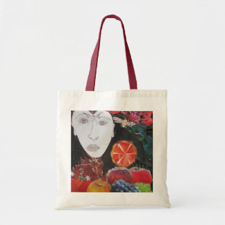 Fruit Bag, orange, apple, grapes, face