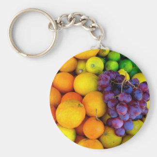 Fruit Basic Round Button Key Ring