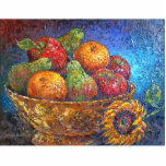 Fruit Basket Painting Art - Multi