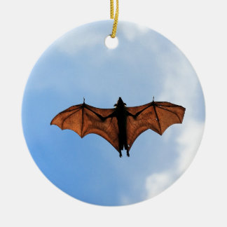 Fruit bat christmas ornament