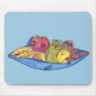 Fruit Bowl Animals Mouse Mat