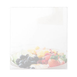 Fruit Bowl Breakfast Food Snack Nutrition Notepad
