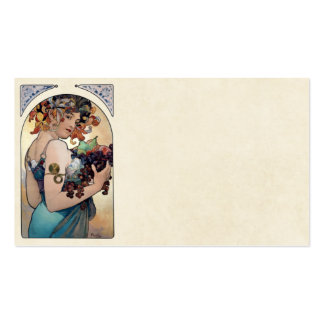 Fruit by Alfons Mucha 1897 Pack Of Standard Business Cards