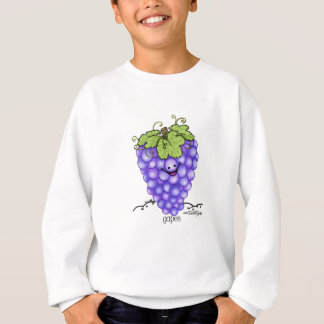 Fruit Cartoon - Grapes Sweatshirt