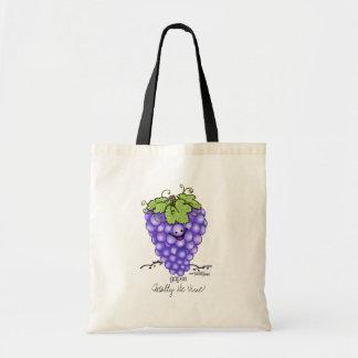 Fruit Cartoon - Grapes Tote Bag