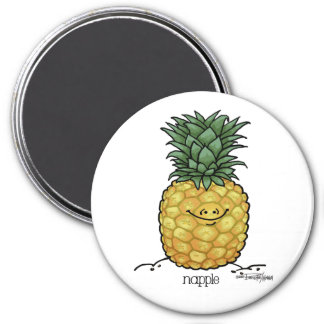 Fruit Cartoon - Pineapple fruit Magnet