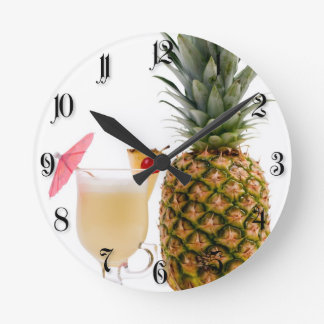 Fruit cocktail round clock