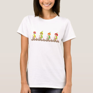 Fruit-Cycles Cute Fruity Little Girls on Bikes T-Shirt