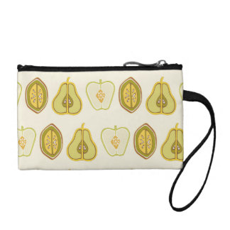 Fruit Design Apples Pears Avocados Kitchen Gifts Coin Purses