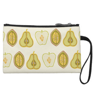 Fruit Design Apples Pears Avocados Kitchen Gifts Wristlet Clutch