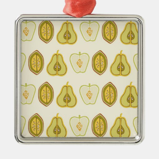 Fruit Design Apples Pears Avocados Kitchen Gifts Christmas Ornament