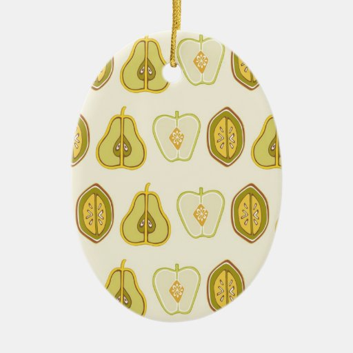 Fruit Design Apples Pears Avocados Kitchen Gifts Christmas Tree Ornament