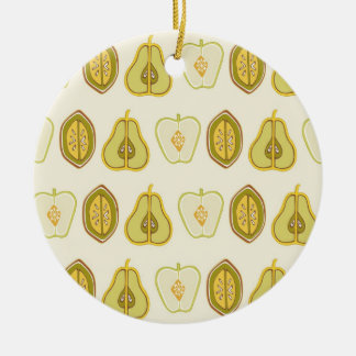 Fruit Design Apples Pears Avocados Kitchen Gifts Round Ceramic Decoration