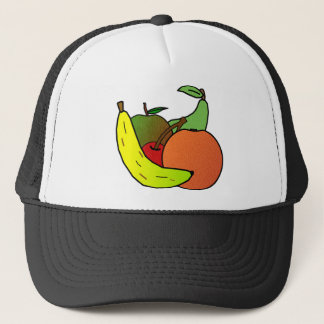 fruit design trucker hat