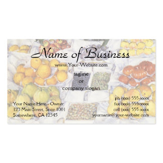 Fruit Displayed on a Stand by Gustave Caillebotte Business Card Templates