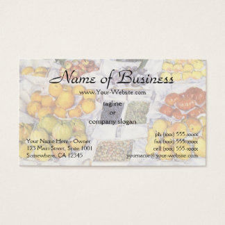 Fruit Displayed on a Stand by Gustave Caillebotte Business Card