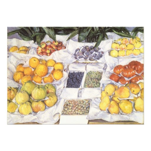 Fruit Displayed on a Stand by Gustave Caillebotte Invite