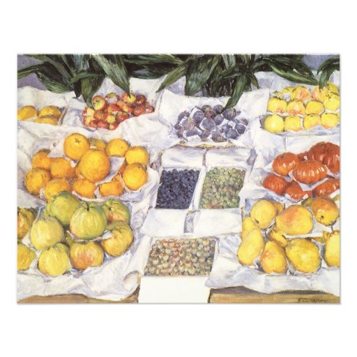 Fruit Displayed on a Stand by Gustave Caillebotte Custom Announcements