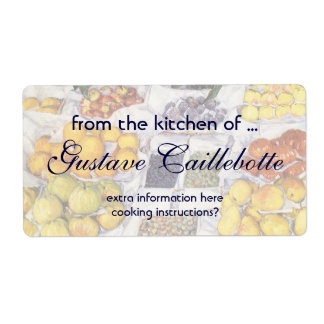 Fruit Displayed on a Stand by Gustave Caillebotte Shipping Label