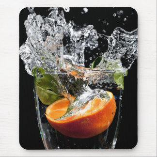 Fruit drop with big splash mouse pad