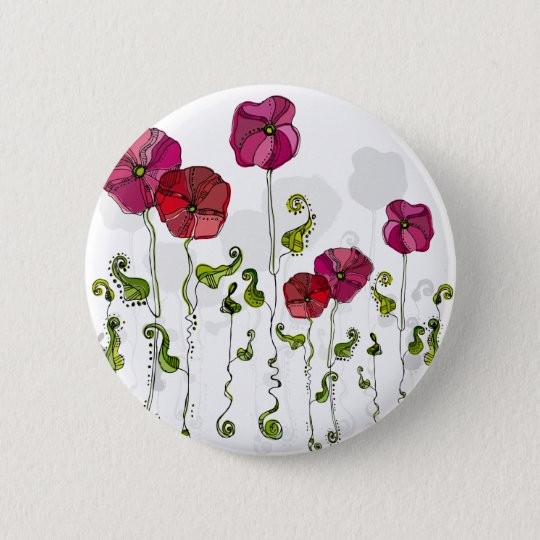 Fruit Flower Cool Cute Girly Retro Floral 6 Cm Round Badge