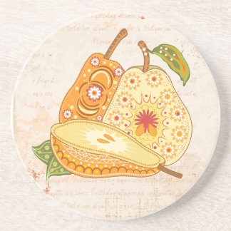 Fruit Flower Cool Cute Girly Retro Floral Coasters