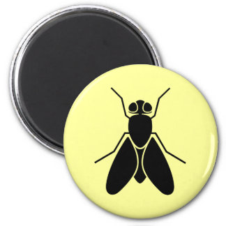 Fruit Fly 6 Cm Round Magnet
