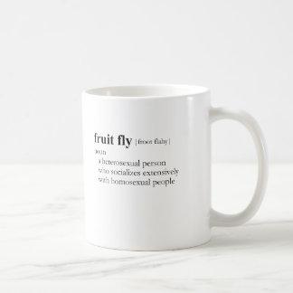 FRUIT FLY (definition) Basic White Mug