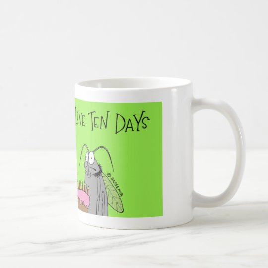Fruit fly has 10 days coffee mug