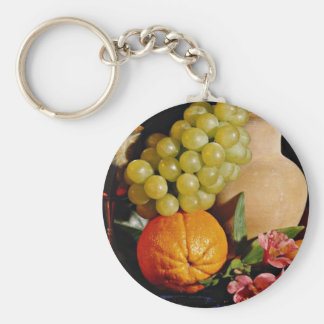 Fruit goblet and jug flowers key chains