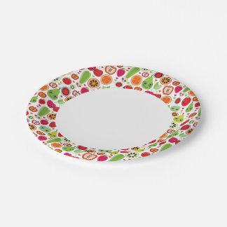 fruit kids illustration apple 7 inch paper plate