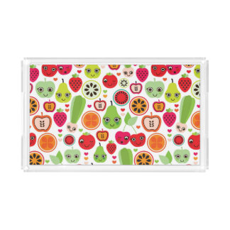 fruit kids illustration apple acrylic tray