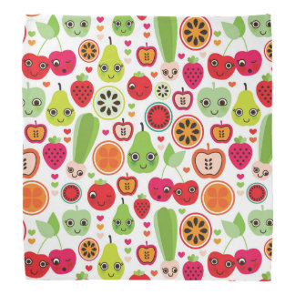 fruit kids illustration apple bandana