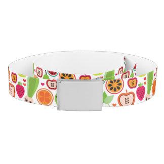 fruit kids illustration apple belt