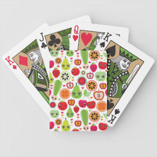 fruit kids illustration apple bicycle playing cards
