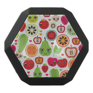fruit kids illustration apple black bluetooth speaker