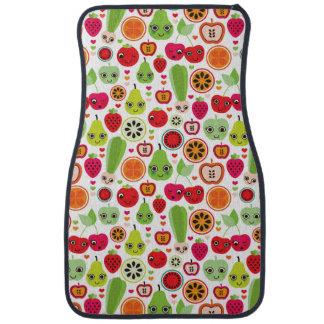 fruit kids illustration apple car mat