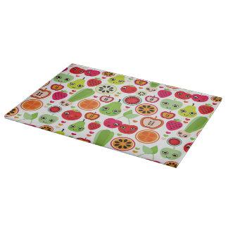 fruit kids illustration apple cutting board