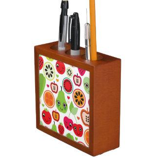 fruit kids illustration apple desk organiser