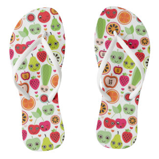 fruit kids illustration apple flip flops