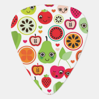 fruit kids illustration apple guitar pick