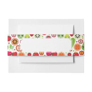 fruit kids illustration apple invitation belly band