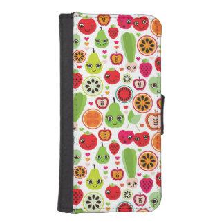 fruit kids illustration apple iPhone SE/5/5s wallet case