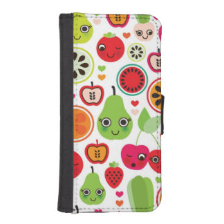 fruit kids illustration apple iPhone SE/5/5s wallet case