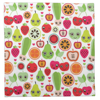 fruit kids illustration apple napkin