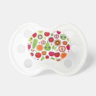 fruit kids illustration apple pacifier