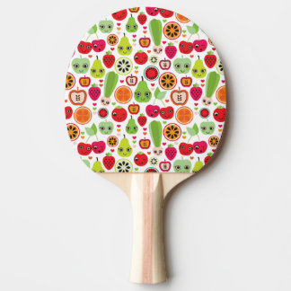 fruit kids illustration apple ping pong paddle