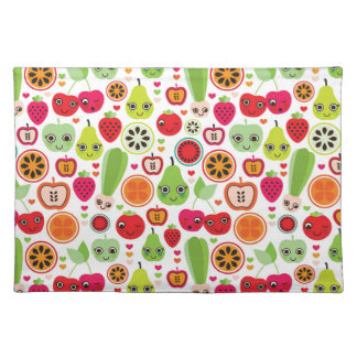 fruit kids illustration apple placemat