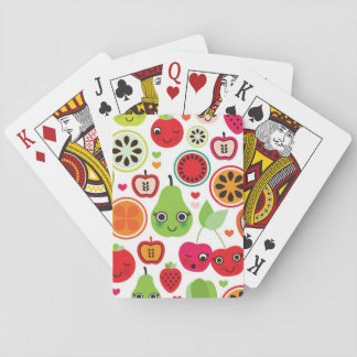 fruit kids illustration apple playing cards