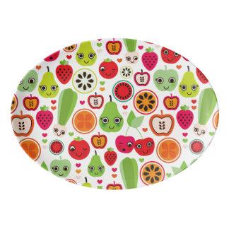 fruit kids illustration apple porcelain serving platter